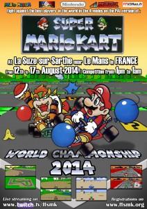 Super Mart Kart affiche tournoi