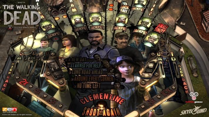 The-Walking-Dead-Pinball---Playfield-Art