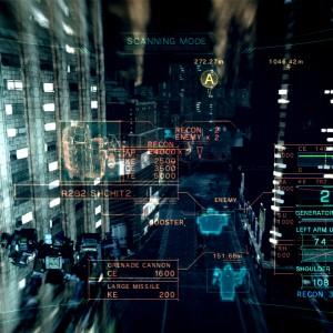 Armored Core V : La vue d'analyse donne des infos sur tout votre environnement.