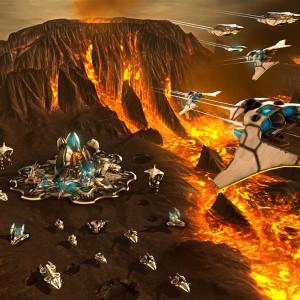 Etherium : Les combats se déroulent aussi dans les airs.