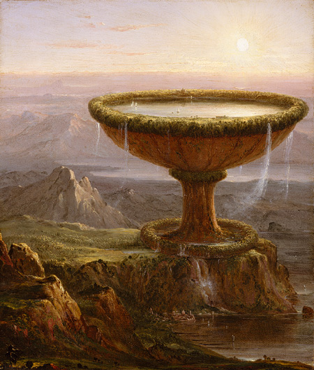 """The Titan's Goblet"" par Thomas Cole (1833) - du mouvement Hudson River School (http://www.metmuseum.org)"