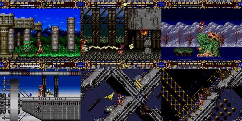 Différents screenshots qui montrent bien l'évolution de l'univers fantastique vers la fiction futuriste.