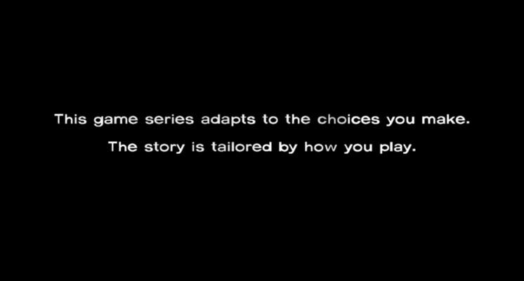 """Ou """"Vos choix vont entraîner la mort des personnages que vous aimez""""."""