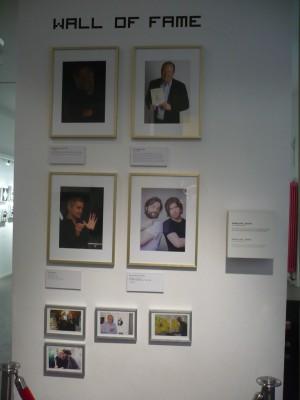 Des célébrités du monde du jeu vidéo sont venues au musée.