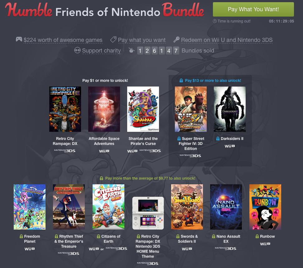 Nintendo Humble Bundle