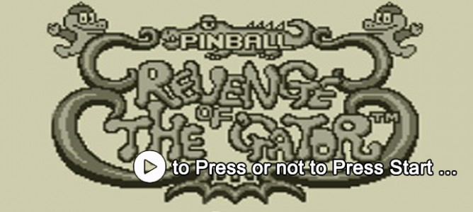 to Press or not to Press Start… #1