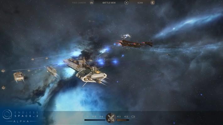 Le mode cinématique d'une bataille spatiale