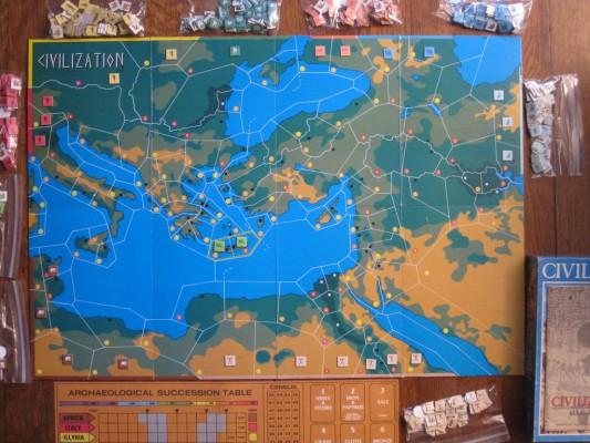 Le premier jeu de Civilization était à l'origine un jeu de plateau publié en 1980.