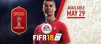 Une MAJ pour FIFA 18, l'arrivée de FIFA WORLD CUP RUSSIA