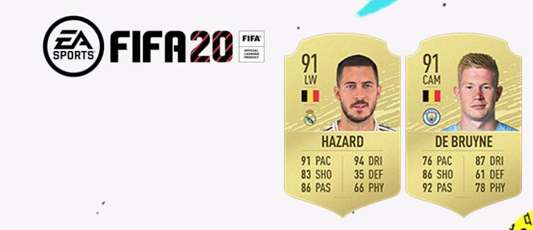 FIFA 20 : 2 Belges dans le top 10 des meilleurs joueurs